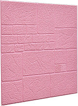 5pcs 3D Tile Brick Wallpaper Wall Sticker