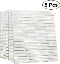 5pcs 8MM 70*77cm 3D Tile Brick Wall Sticker