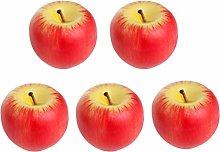 5PCS Artificial Fruit Candles Simulation Apple