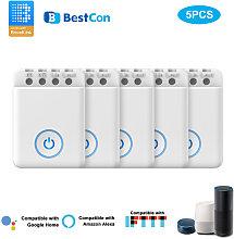 5PCS Bestcon MCB1 DIY Wifi Switch Wireless Smart