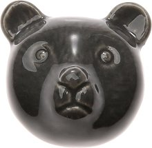 5Pcs Door Handle Ceramic Bear Pattern Novelty