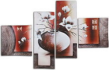 5pcs Flower Canvas Modern Abstract Oil Painting
