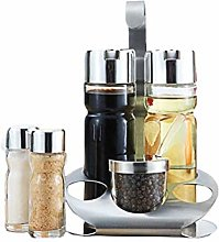 5pcs Glass Seasoning Jars Set of Oil Olive Vinegar
