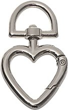 5pcs Heart Shape Buckles Zinc Alloy Plated Gate