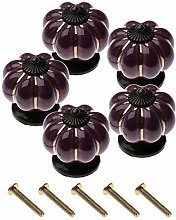 5Pcs Knobs Ceramic Pumpkin Door Handle Pulls