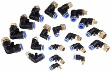 5Pcs/lot Pneumatic Fittings Elbow Quick Push in