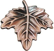 5pcs Maple Leaves Handle and Knobs Vintage Bronze