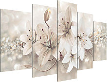 5pcs Modern Abstract Flowers Canvas Print Painting