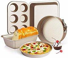 5pcs Non Stick Bakeware Set Baking Set — with