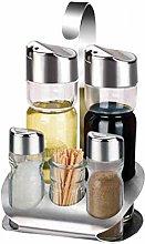 5pcs Olive Oil Dispenser Glass Bottle Cruet
