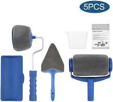5Pcs Paint Brush Set Seamless New Drum-type