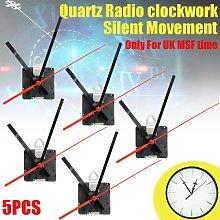 5Pcs Radio Controlled Ticking Quartz Clock