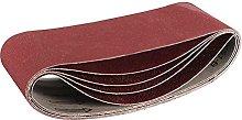 5pcs Sanding Belts Mixed Grade 60 80 120 240 Grit