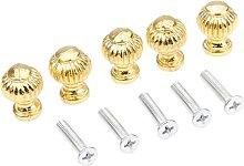 5pcs/Set Gold Lamp Knobs Vintage Pull Round