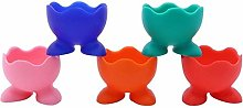 5Pcs Silicone Egg Cup Holders Boiled Egg Serving