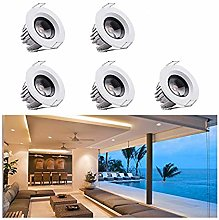 5Pcs Small Recessed Ceiling Lights, Elitlife 3W