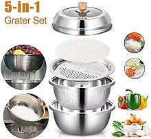 5pcs Vegetable Cutter Basket Slicer Set, Strainer