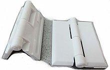 5Pcs White Plastic Cabinet Bearing Hinge Plastic