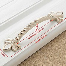 5pcs Zinc Aolly Ivory White Cabinet Handle Kitchen