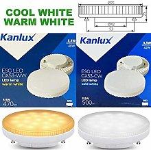 5w GX53 LED Lamp Daylight Cool White 6000k - 3000k