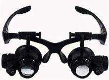 5X 15X 20X 25X Double Eye Glasses Loupe Head