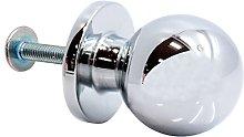 5X 25mm Premium Chrome Drawer Ball Knob -