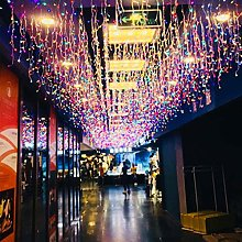 5x0.8m 216LED Icicle Light Extendable Twinkle