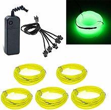 5x1meter EL Wire Neon Light Flexible Portable