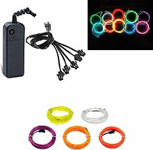5x1meter EL Wires Multi Colour Neon Lights Tube