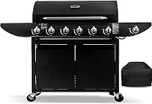 6+1 Gas Burner Garden Grill BBQ Barbecue Side