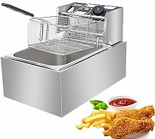 6.3QT/6L Electric Deep Fryer, 2500W 220-240V