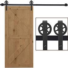 6.6 FT/ 2000mm Carbon Steel Sliding Barn Door Kits
