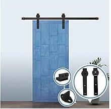 Costoffs 6.6Ft Barn Door Hardware Set Sliding Track Kit Fits Door Panel Maximum Width 40 for Indoor//Outdoor