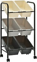 6-Basket Toy Storage Trolley Ombre Plastic -