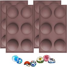6 Cavity Semicircle Silicone Mold, Candy and Gummy
