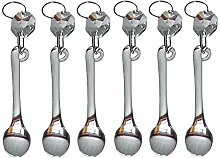 6 Clear Chandelier Drops Transparent Droplets Cut