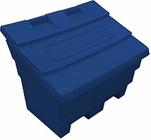 6 Cu Ft Grit Salt Storage Bin in Dark Blue
