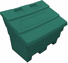 6 Cu Ft Grit Salt Storage Bin in Dark Green