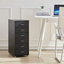 6 Drawers Home Office Metal Filing Cabinet Mobile