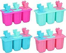6 Freezer DIY Ice Lolly Maker Tray Cream Popsicle
