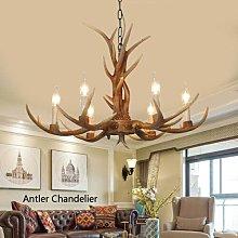 6 Heads Antler Lamp Antler Chandelier Vintage