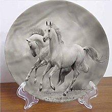 6 Inch Horses Ceramic Dinner Plate,Horse Freedom