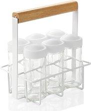 6-Jar Free-Standing Spice Rack Isabelline