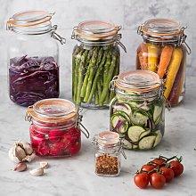 6 Jar Free Standing Spice Rack Kilner