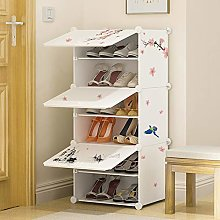 6-Layer Shoe Rack, Thick Plastic Storage Rack,