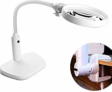 6 Led Magnifying Glass Clamp Lamp,2X,5X Magnifier