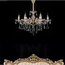 6 Light Candle Chandelier Ceiling Light Champagne