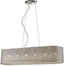 6 Light Ceiling Pendant Silver, G9 - Spring