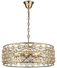 6 Light Large Ceiling Pendant Gold, Clear with