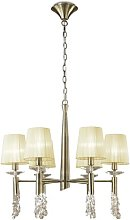 6-Light Shaded Chandelier Willa Arlo Interiors